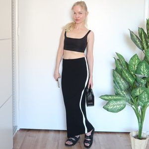 NEW Zara knitted maxi sport chick skirt